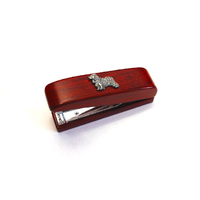 Cocker Spaniel Motif on Rosewood Stapler Stationery Gift