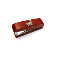 Corgi Dog Motif on Rosewood Stapler Stationary Gift