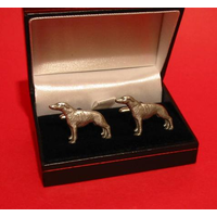 Greyhound Dog Pewter Cufflinks Man's Gift Greyhound Gift