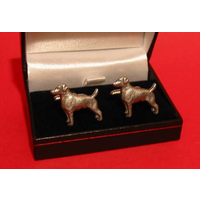 Jack Russell Terrier Dog Pewter Cufflinks Man's Pet Gift