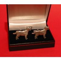 Labrador Retriever Dog Pewter Cufflinks Man's Pet Gift