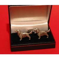 Springer Spaniel Dog Pewter Cufflinks Man's Fashion Pet Gift