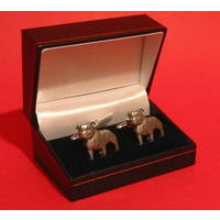 Staffordshire Bull Terrier Dog Pewter Cufflinks Man's Fashion Pe