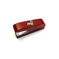 Dachshund Dog Motif on Rosewood Stapler Stationary Gift