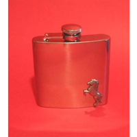 Horse 6oz Stainless Steel Hip Flask Man's Gift