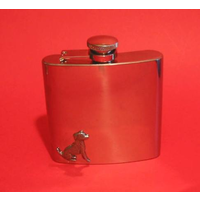 Jack Russell Dog 6oz Stainless Steel Hip Flask Man's Gift
