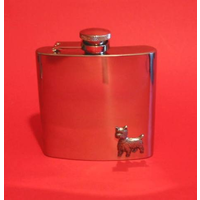 West Highland Terrier Dog 6oz Stainless Steel Hip Flask