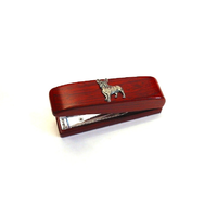 French Bulldog Motif on Rosewood Stapler Stationary Gift