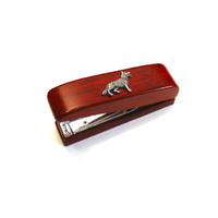 German Shepherd Dog Motif on Rosewood Stapler Stationary Gift