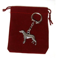 Greyhound Dog Keyring Pewter Pet Gift