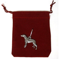 Greyhound Dog Zipper Pull Pewter Pet Gift