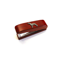 Greyhound Motif on Rosewood Stapler Stationary Gift