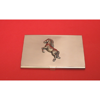 Horse Pony Chrome Plated Business or Credit Card Holder