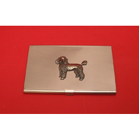 Poodle Dog Chrome Plated Business or Credit Card Holder