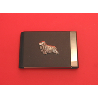 Cocker Spaniel Pewter Motif on Black Card Holder Dog