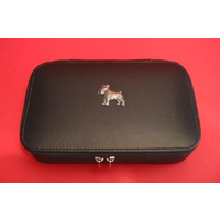 Miniature Schnauzer Pewter Motif on Travel Jewellery Box