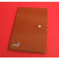 Pug Dog A5 Tan Journal Notebook Dog Gift