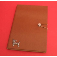 Chihuahua Dog A5 Tan Journal Notebook Dog Gift