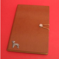 Border Terrier A5 Tan Journal Notebook Dog Gift
