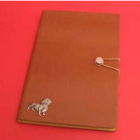Dachshund Dog A5 Tan Journal Notebook Dog Gift