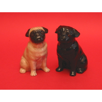 Pug Dog Salt & Pepper Set Quail Collectible Pug Gift