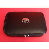 Grazing Pony Pewter Motif on Travel Jewellery Box