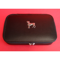 Boxer Dog Pewter Motif on Travel Jewellery Box