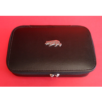 Border Collie Dog Pewter Motif on Travel Jewellery Box