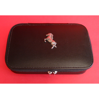 Rearing Horse Pewter Motif on Travel Jewellery Box