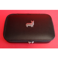Corgi Dog Pewter Motif on Travel Jewellery Box