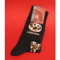 Yellow Labrador Dog Men's Socks Fashion Gift