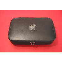 Cockapoo Dog Pewter Motif on Travel Jewellery Box