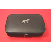 Geman Shepherd Dog Pewter Motif on Travel Jewellery Box