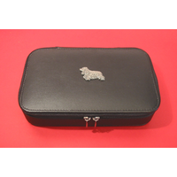 Cocker Spaniel Dog Pewter Motif on Travel Jewellery Box