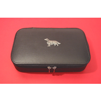 Irish Setter Dog Pewter Motif on Travel Jewellery Box