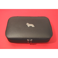 King Charles Spaniel Dog Pewter Motif on Travel Jewellery Box