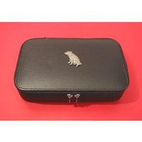Labrador Retriever Dog Pewter Motif on Travel Jewellery Box