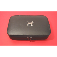 Patterdale Terrier Pewter Motif on Travel Jewellery Box