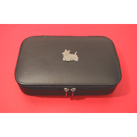 Scottish Terrier Pewter Motif on Travel Jewellery Box
