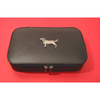 Springer Spaniel Dog Pewter Motif on Travel Jewellery Box