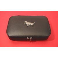 Golden Retriever Dog Pewter Motif on Travel Jewellery Box