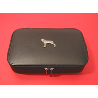 Weimaraner Pewter Motif on Travel Jewellery Box