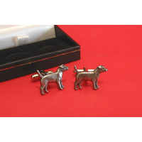Patterdale Terrier Dog Pewter Cufflinks Man's Pet Gift