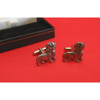 Dachshund Dog Pewter Cufflinks Man's Pet Gift