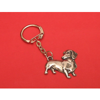 Dachshund Dog Keyring Pewter Pet Mum Dad Gift
