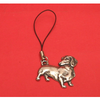 Dachshund Dog Mobile Phone Charm Pewter Pet Gift