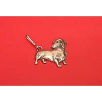 Dachshund Dog Zipper Pull Pewter Pet Gift