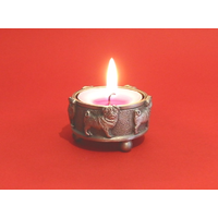 Pug Dog Pewter Tea light Holder Christmas Gift