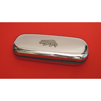Border Collie Motif Chrome Glasses Case Useful Border Collie Gif