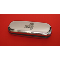 Dachshund Motif Chrome Glasses Case Useful Dachshund Gift